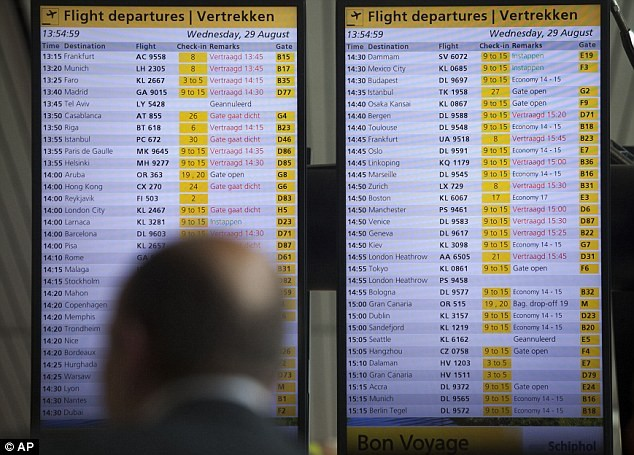 Wijzigen of cancelen taxi Schiphol